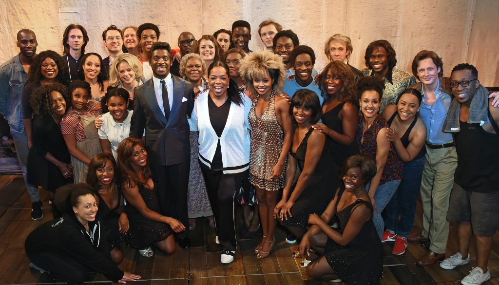Oprah Winfrey and the cast of TINA The Musical